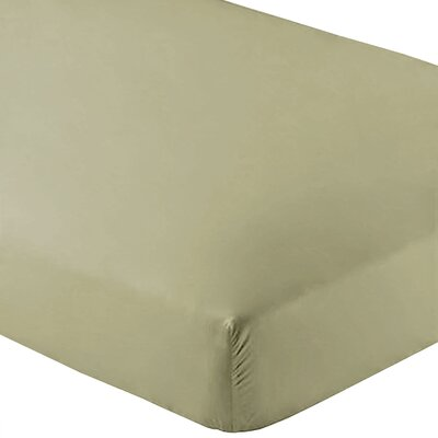 Ultra-Soft Luxury Microfiber Fitted Sheet Color: Sage, Size: Twin XL