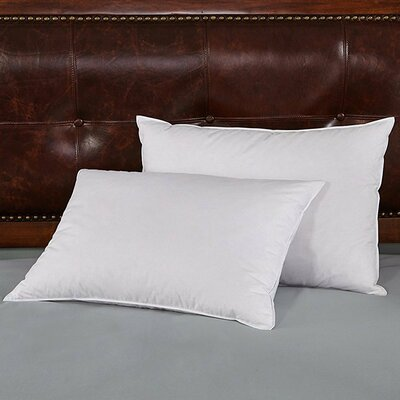 Soft Goose Down and Feather Pillow Size: Standard
