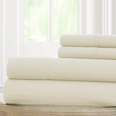 Solid Microfiber Sheet Set Size: Full, Color: Turtledove