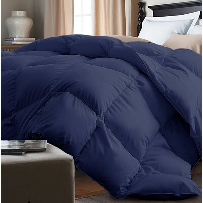 Down Alternative Comforter Size: King, Color: Navy