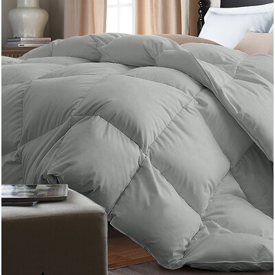 Down Alternative Comforter Size: King, Color: Silver