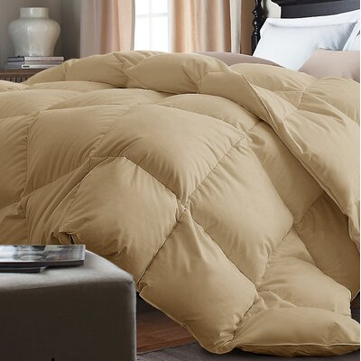 Down Alternative Comforter Size: King, Color: Khaki
