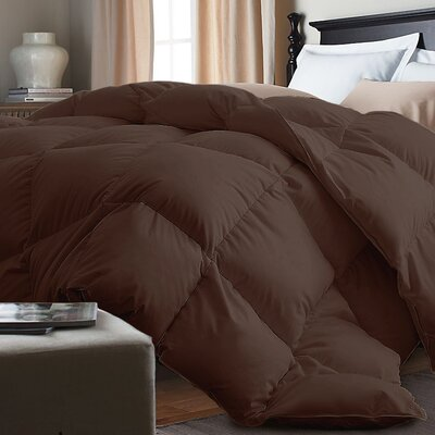 Down Alternative Comforter Size: King, Color: Chocolate