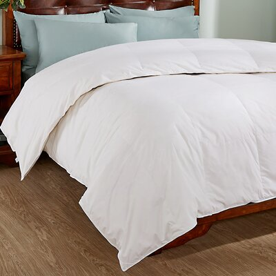 All Season Down Comforter with Piped Edges Size: Twin