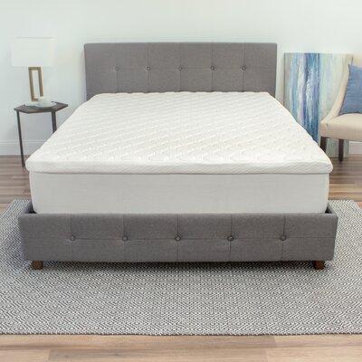 "Gerson 3.5"" Memory Foam Mattress Topper Bed Size: California King"