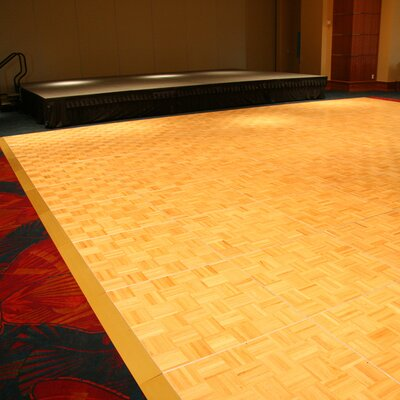 Original Dance Floor 36 x 36 x 20mm Oak Laminate and 32 Trims