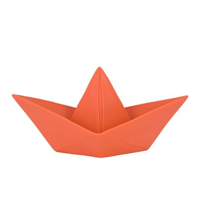 Paper Boat Night Light Color: Coral Red