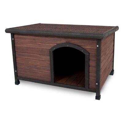 Aspen Pets Ruff Hauz Wood Offset Dog House Size: 32.3 H x 45.5 W x 31 D