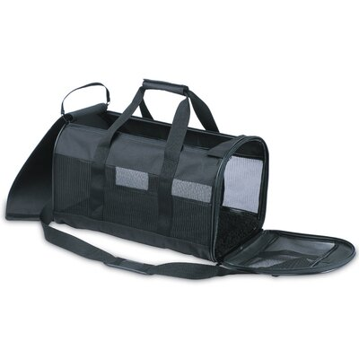 Soft Side Kennel Cab Pet Carrier Size: Small (10 H x 10 W x 17 L), Color: Black
