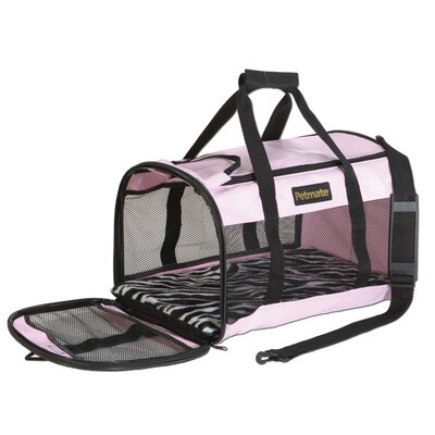Soft Side Kennel Cab Pet Carrier Size: Large (12 H x 11.5 W x 20 L), Color: Pink