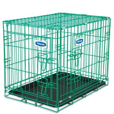 Puppy 2 Door Training Retreat Crate Color: Green