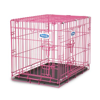 Puppy 2 Door Training Retreat Crate Color: Pink
