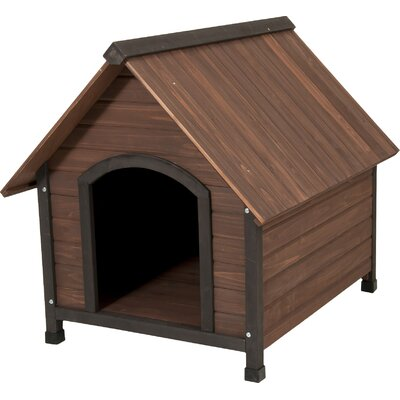 Aspen Pets Ruff Hauz Wood Peak Dog House Size: 38.5 H x 31 W x 34 D