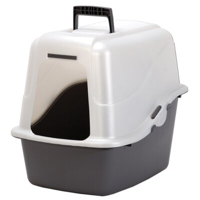 18.9 x 15.1 x 17 Large Hooded Litter Pan Color: Nickel/Black