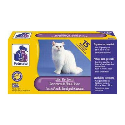 Litter Pan Liners (Set of 2) Size: Small/Medium 15 Piece 28.3 x 13