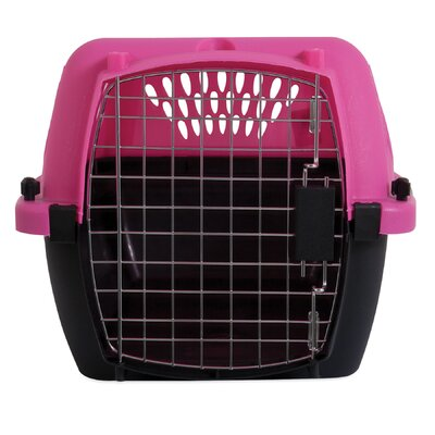 Porter Fashion Pet Carrier Size: Small (11.8 H x 15.2 W x 23 L), Color: Pink / Black