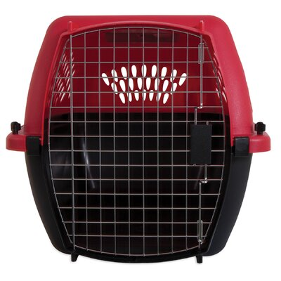 Porter Fashion Pet Carrier Size: Large (16.5 H x 18.6 W x 26.2 L), Color: Deep Red / Black