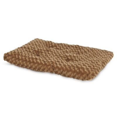 Plush Kennel Dog Mat Size: 16.5 W x 23.5 D x 2.25 H