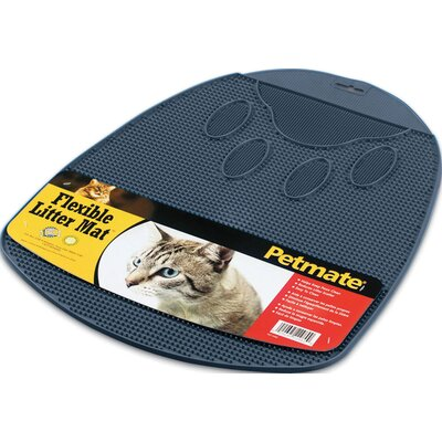 17.1 x 14 x 0.3 Blue Flexible Rubberized Litter Mat