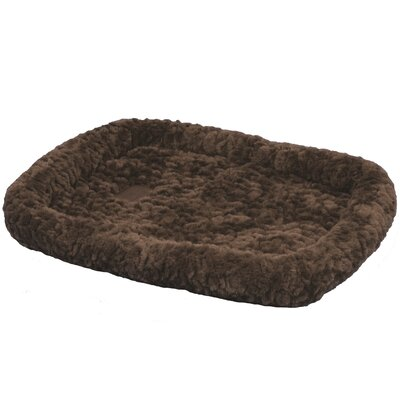 SnooZZy Cozy Crate Donut Dog Bed Size: Intermediate (47 L x 28 W), Color: Brown