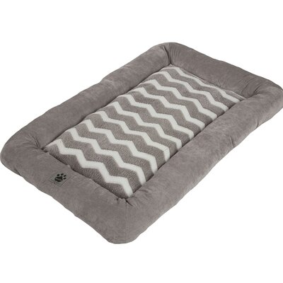Snoozzy Hip as a Zig Zag Low Bumper Mat Size: Large (37 L x 25 W), Color: Gray