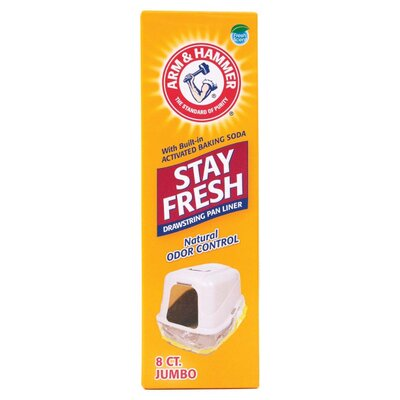 Jumbo Arm and Hammer Drawstring Pet Pan Liner