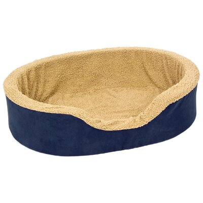 Plush Lounger Bolster Dog Bed Size: Large (28 L x 22 W)