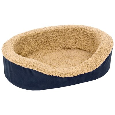 Plush Lounger Bolster Dog Bed Size: Small (23 L x 16 W)