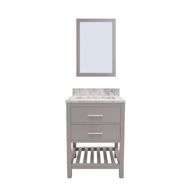 Caribbean Breeze 30 Single Bathroom Vanity with Mirror