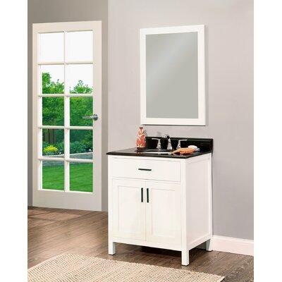 Arezzo 30 Single Bathroom Vanity with Mirror Base Finish: White