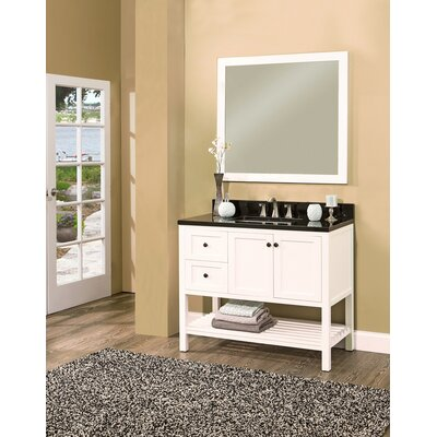 Hampton Bay 42 Single Bathroom Vanity with Mirror Base Finish: White