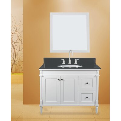 Barcelona 42 Single Bathroom Vanity with Mirror
