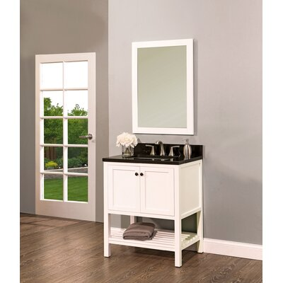 Hampton Bay 30 Single Bathroom Vanity with Mirror Base Finish: White