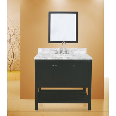 Hampton Bay 36 Single Bathroom Vanity with Mirror