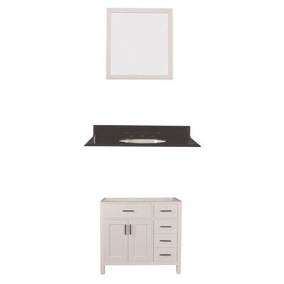 Arezzo 42 Single Bathroom Vanity with Mirror Base Finish: White