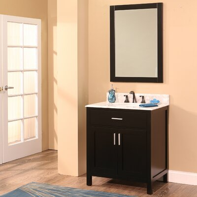 Arezzo 30 Single Bathroom Vanity with Mirror Base Finish: Black