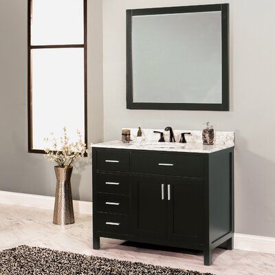 Arezzo 36 Single Bathroom Vanity with Mirror Base Finish: Black