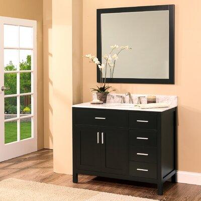 Arezzo 36 Single Bathroom Vanity with Mirror Base Finish: Black