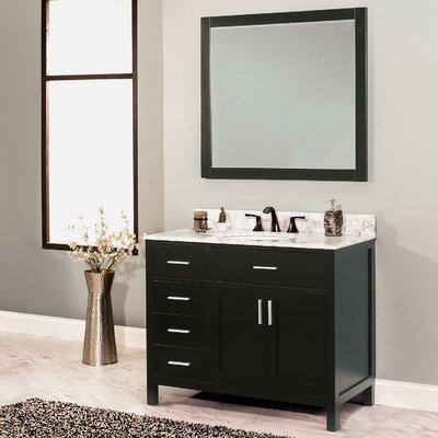 Arezzo 42 Single Bathroom Vanity with Mirror Base Finish: Black