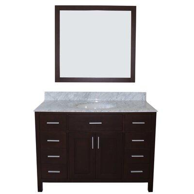 Arezzo 48 Single Bathroom Vanity with Mirror Base Finish: Black