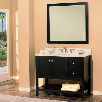 Hampton Bay 42 Single Bathroom Vanity with Mirror Base Finish: Black