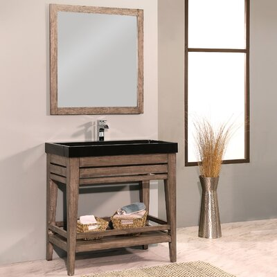 Palm Springs 42 Single Bathroom Vanity with Mirror Base Finish: Ash