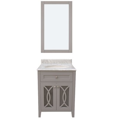 Margaret Garden 24 Single Bathroom Vanity with Mirror