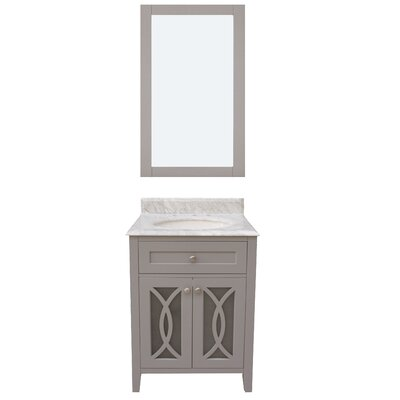 Margaret Garden 36 Single Bathroom Vanity with Mirror