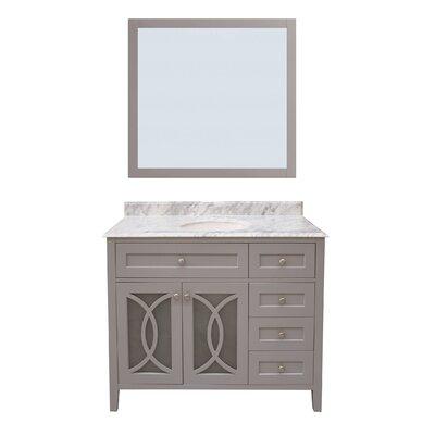 Margaret Garden 42 Single Bathroom Vanity with Mirror
