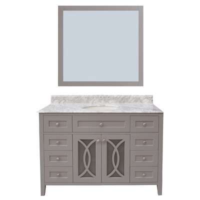 Margaret Garden 48 Single Bathroom Vanity with Mirror