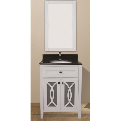 Margaret Garden 31 Single Bathroom Vanity with Mirror