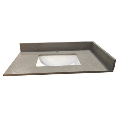49 Single Bathroom Vanity Top Top Finish: Gray Crystal