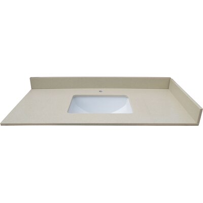43 Single Bathroom Vanity Top Top Finish: Cream Crystal