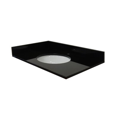 43 Single Bathroom Vanity Top Top Finish: Absolute Black